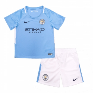 Manchester City 17-18  Home Soccer kids Kit