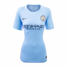 Manchester City 1718 Home Ladies Jersey Shirt