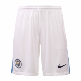 Manchester City 17-18 Home White Jersey Short