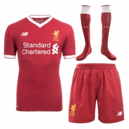 Liverpool 17-18 Home Jersey Whole Kit(Shirt+Short+Socks)
