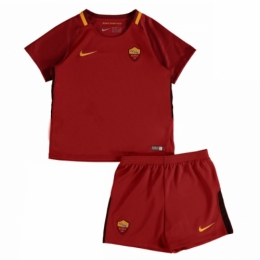 Roma 17-18 Home Red Children's Jersey Kit(Shirt+Short)