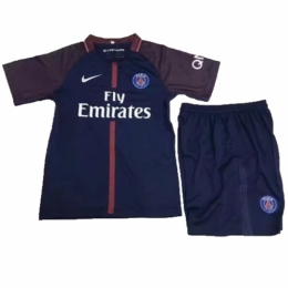 PSG 17-18 Home Children's Jersey Kit(Shirt+Short)