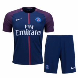 PSG 17-18 Home Soccer Jersey Kit(Shirt+Short)