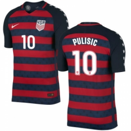 info for 857e5 451a8 2017 USA Vapor Match Gold Cup Red&Navy Soccer Jersey PULISIC #10 Shirt