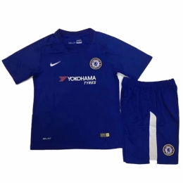 17-18 Chelsea Home Children's Jersey Kit(Shirt+Short)