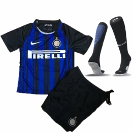 17-18 Inter Milan Home Children's Jersey Whole Kit(Shirt+Short+Socks)