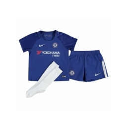 17-18 Chelsea Home Children's Jersey Whole Kit(Shirt+Short+Socks)
