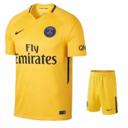 quality design 917a4 b2fda 17-18 PSG Away Soccer Jersey Kit(Shirt+Short)