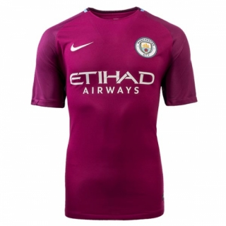 96dda23e42a 17-18 Manchester City Away purple Soccer Jersey Shirt