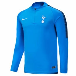 low priced 35a10 7a678 17-18 Tottenham Hotspur Blue Zipper Sweat Top Shirt