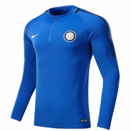 17-18 Inter Milan Blue Zipper Sweat Top Shirt