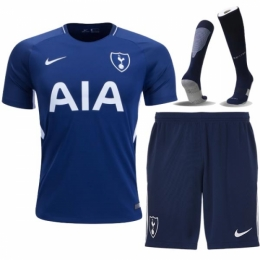 17-18 Tottenham Hotspur Away Blue Jersey Kit(Shirt+Short+Socks)