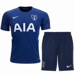 17-18 Tottenham Hotspur Away Blue Jersey Kit(Shirt+Short)