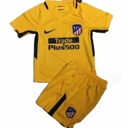 17-18 Atletico Madrid Away Yellow Children's Jersey Kit(Shirt+Short)