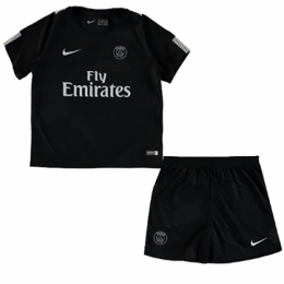 2436005f6 17-18 PSG Third Away Black Children's Jersey Kit(Shirt+Shorts) | PSG ...