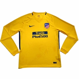17-18 Atletico Madrid Away Yellow Long Sleeve Jersey Shirt