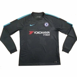 17-18 Chelsea Third Away Black Long Sleeve Jersey Shirt