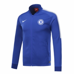 17-18 Chelsea Blue Low Collar Training Jacket