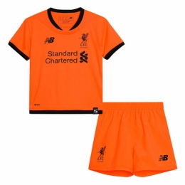 huge selection of edc56 73c71 17-18 Liverpool Third Away Orange Children's Jersey Kit(Shirt+Shorts)