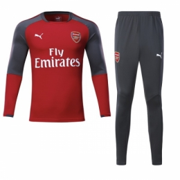 free shipping 0a408 5b881 17-18 Arsenal Red Training Kit(Round neck Shirt+Trousers)