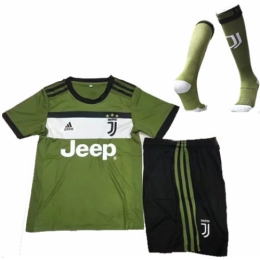 8aa0c6736 17-18 Juventus Third Away Green Children s Jersey Whole Kit(Shirt +Shorts+Socks)