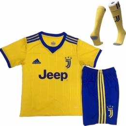save off f333f f703b 17-18 Juventus Away Yellow Children's Jersey Whole Kit(Shirt+Shorts+Socks)