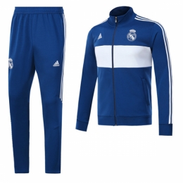 the best attitude 41c0d 28020 17-18 Real Madrid Blue&White Training Kit( Jacket+Trousers)