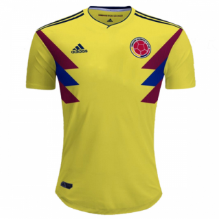 2018 Colombia Home Yellow Soccer Jersey Shirt