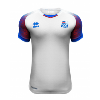14645569c 2018 World Cup Iceland Away White Soccer Jersey Shirt