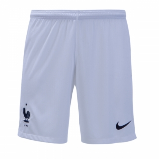2018 World Cup France Home White Soccer Jersey Short