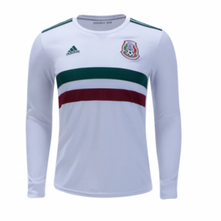 9feec2854 2018 World Cup Mexico Away White Long Sleeve Soccer Jersey Shirt | Mexico  Jersey Shirt sale | SoccerGears