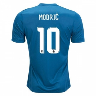 9b60b3b6f 17-18 Real Madrid Third Away Blue   10 MODRIC Soccer Jersey Shirt ...