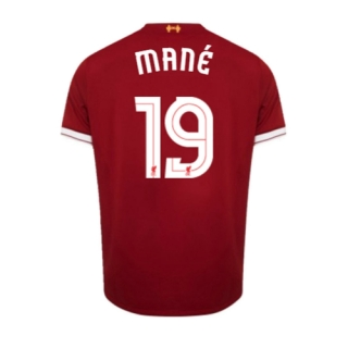 online store 9b649 932d4 Liverpool 17/18 UCL Style Printing # 19 MANE Home Soccer Jersey Football  Shirt
