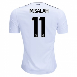 sports shoes cc022 4b2d9 Liverpool 17-18 #11 M.SALAH Away White Soccer Jersey Shirt