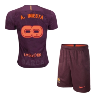 3f4ef7d511b 17-18 Barcelona Third Away  Infinit8Iniesta Soccer Whole Kit(Shirt+Shorts)