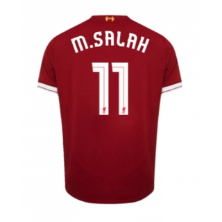 wholesale dealer e7611 2d644 Liverpool 17/18 UCL Style Printing # 11 M.SALAH Home Soccer Jersey Football  Shirt