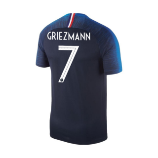 outlet store a12f9 b28f0 2018 World Cup France #7 GRIEZMANN Home Blue Soccer Jersey Shirt