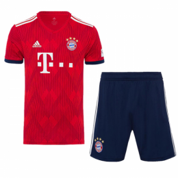 18-19 Bayern Munich Home Soccer Jersey Kit(Shirt+Short)